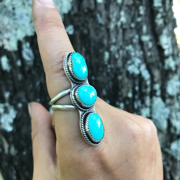 505b0ef27 Red Crown Designs Jewelry | Sterling Silver And Turquoise Ring Size ...
